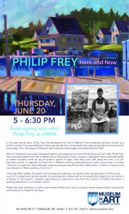 Philip Frey Here and Now Book Signing @ University of Maine Art Museum
